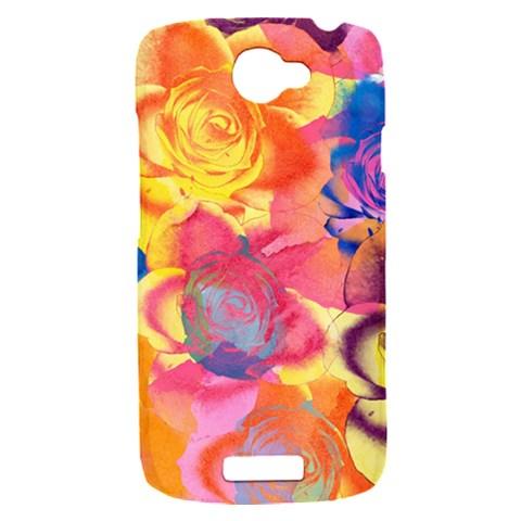 Pop Art Roses HTC One S Hardshell Case