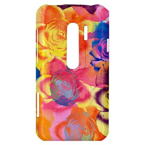 Pop Art Roses HTC Evo 3D Hardshell Case