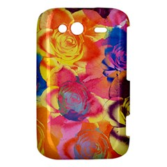 Pop Art Roses HTC Wildfire S A510e Hardshell Case