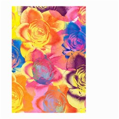 Pop Art Roses Small Garden Flag (Two Sides)