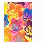 Pop Art Roses Small Garden Flag (Two Sides) Back