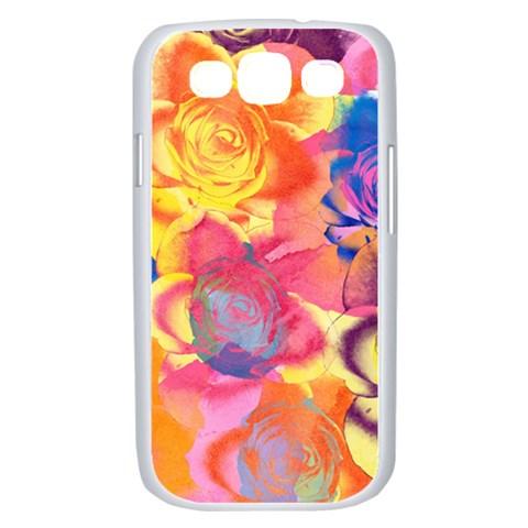 Pop Art Roses Samsung Galaxy S III Case (White)