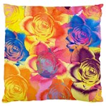 Pop Art Roses Large Cushion Case (Two Sides) Front