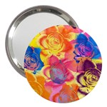 Pop Art Roses 3  Handbag Mirrors Front