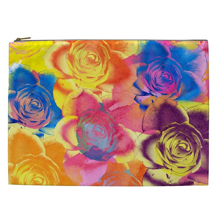 Pop Art Roses Cosmetic Bag (XXL)