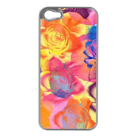 Pop Art Roses Apple iPhone 5 Case (Silver)