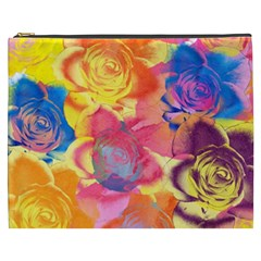 Pop Art Roses Cosmetic Bag (xxxl)