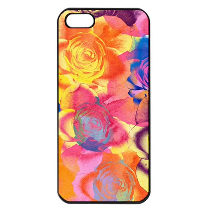 Pop Art Roses Apple iPhone 5 Seamless Case (Black)