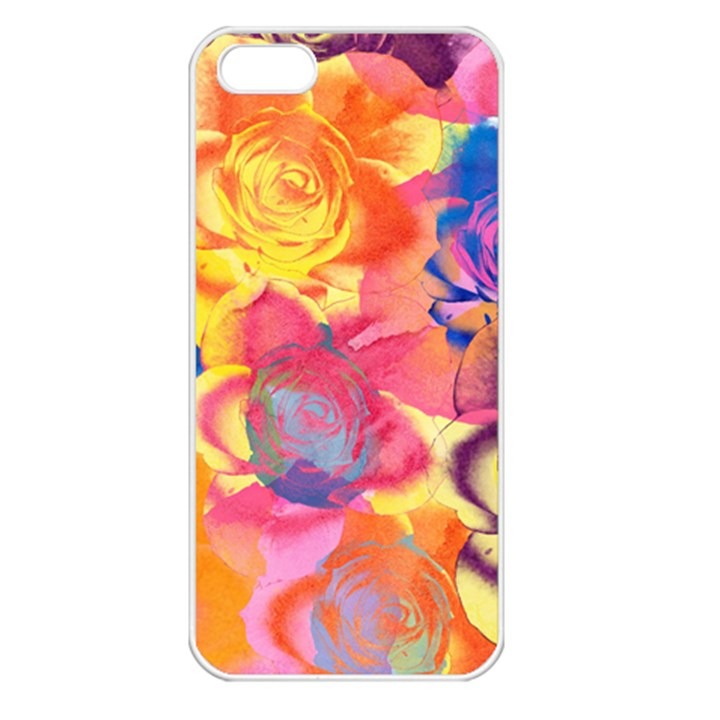 Pop Art Roses Apple iPhone 5 Seamless Case (White)