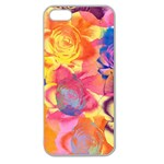 Pop Art Roses Apple Seamless iPhone 5 Case (Clear) Front