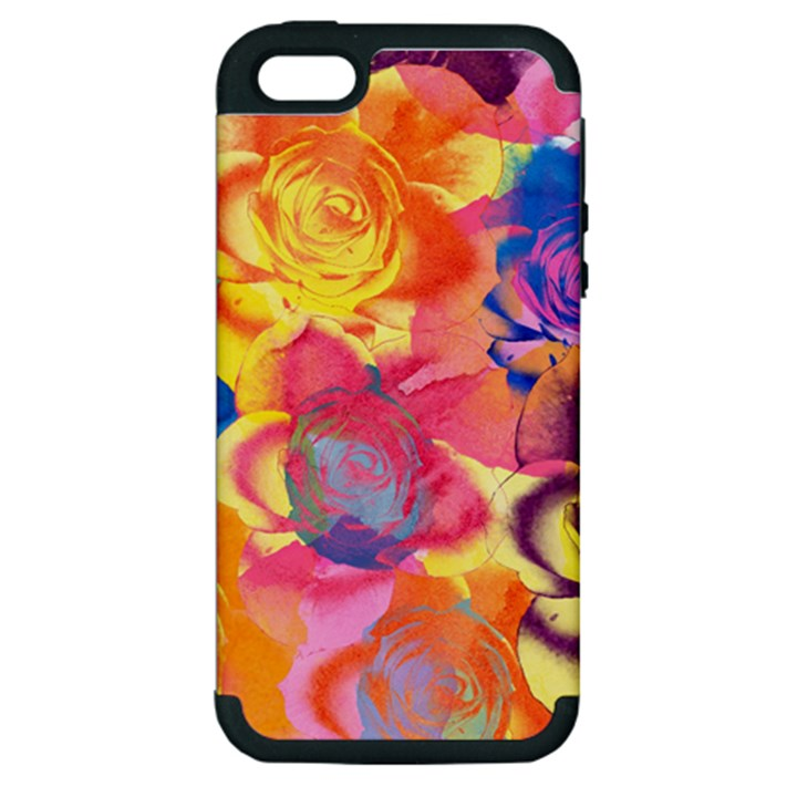 Pop Art Roses Apple iPhone 5 Hardshell Case (PC+Silicone)