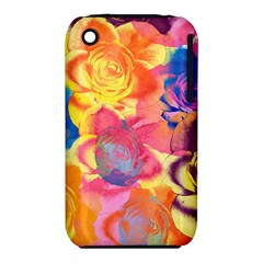 Pop Art Roses Apple iPhone 3G/3GS Hardshell Case (PC+Silicone)