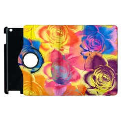 Pop Art Roses Apple Ipad 2 Flip 360 Case