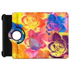 Pop Art Roses Kindle Fire Hd Flip 360 Case