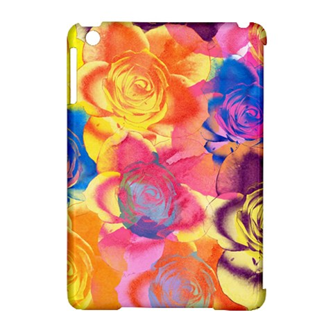 Pop Art Roses Apple iPad Mini Hardshell Case (Compatible with Smart Cover)