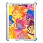 Pop Art Roses Apple iPad 3/4 Case (White) Front