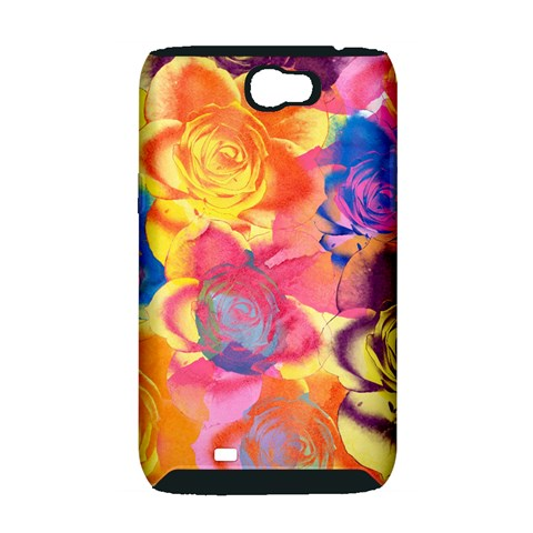 Pop Art Roses Samsung Galaxy Note 2 Hardshell Case (PC+Silicone)