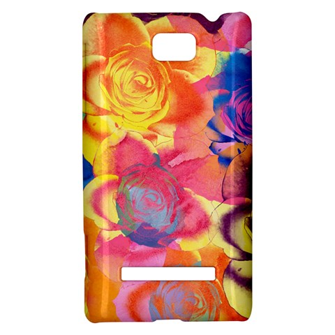 Pop Art Roses HTC 8S Hardshell Case
