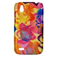 Pop Art Roses HTC Desire V (T328W) Hardshell Case