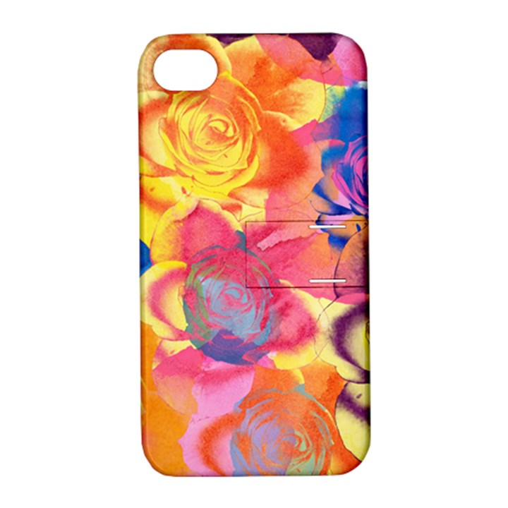 Pop Art Roses Apple iPhone 4/4S Hardshell Case with Stand