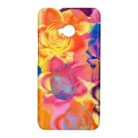 Pop Art Roses HTC One M7 Hardshell Case