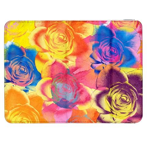 Pop Art Roses Samsung Galaxy Tab 7  P1000 Flip Case
