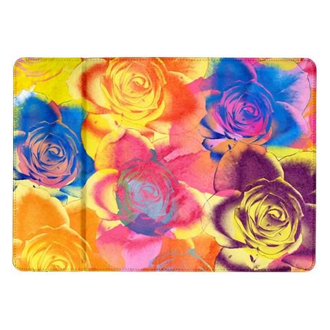 Pop Art Roses Samsung Galaxy Tab 10.1  P7500 Flip Case