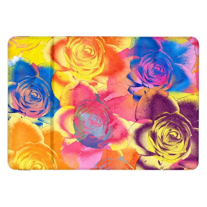 Pop Art Roses Samsung Galaxy Tab 8.9  P7300 Flip Case