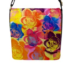 Pop Art Roses Flap Messenger Bag (L)