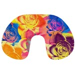 Pop Art Roses Travel Neck Pillows Back