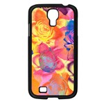 Pop Art Roses Samsung Galaxy S4 I9500/ I9505 Case (Black) Front
