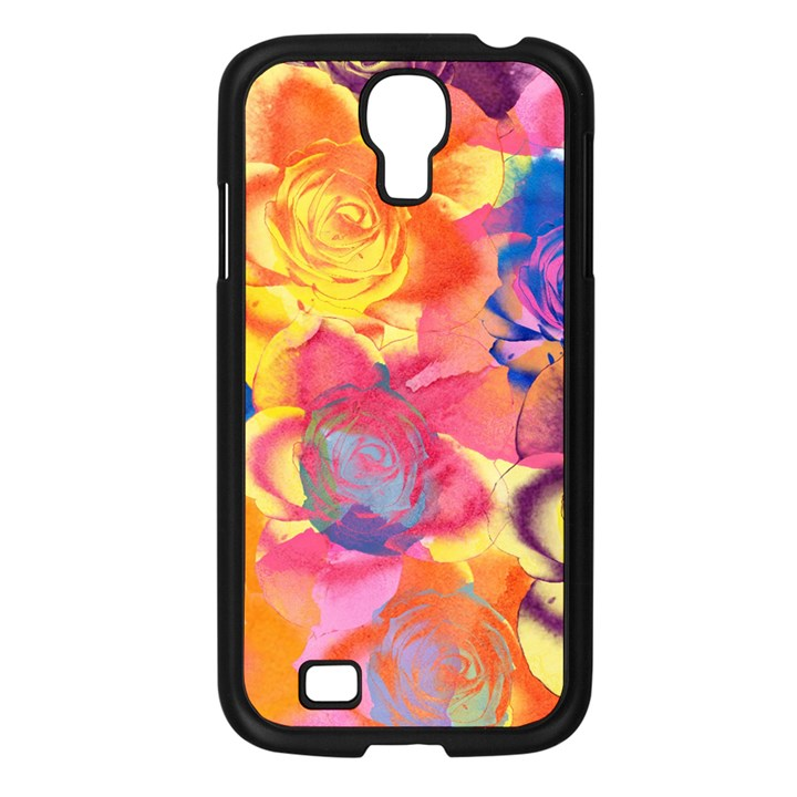 Pop Art Roses Samsung Galaxy S4 I9500/ I9505 Case (Black)