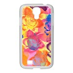 Pop Art Roses Samsung GALAXY S4 I9500/ I9505 Case (White) Front
