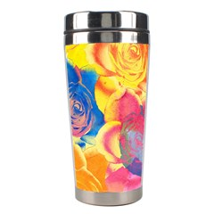 Pop Art Roses Stainless Steel Travel Tumblers