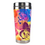 Pop Art Roses Stainless Steel Travel Tumblers Right