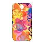 Pop Art Roses Samsung Galaxy S4 I9500/I9505  Hardshell Back Case Front