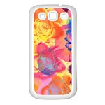 Pop Art Roses Samsung Galaxy S3 Back Case (White) Front