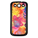 Pop Art Roses Samsung Galaxy S3 Back Case (Black) Front