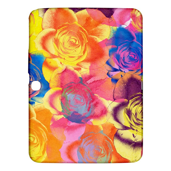 Pop Art Roses Samsung Galaxy Tab 3 (10.1 ) P5200 Hardshell Case