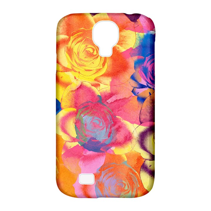 Pop Art Roses Samsung Galaxy S4 Classic Hardshell Case (PC+Silicone)