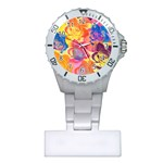 Pop Art Roses Plastic Nurses Watch Front