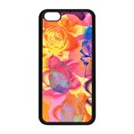 Pop Art Roses Apple iPhone 5C Seamless Case (Black) Front