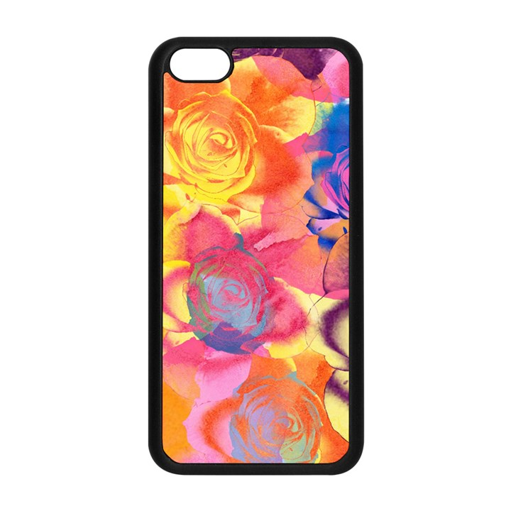 Pop Art Roses Apple iPhone 5C Seamless Case (Black)