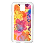 Pop Art Roses Samsung Galaxy Note 3 N9005 Case (White) Front