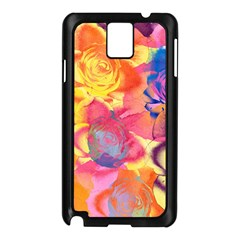Pop Art Roses Samsung Galaxy Note 3 N9005 Case (Black)