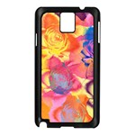 Pop Art Roses Samsung Galaxy Note 3 N9005 Case (Black) Front