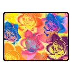 Pop Art Roses Double Sided Fleece Blanket (Small)  50 x40 Blanket Front