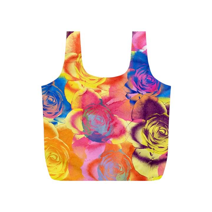 Pop Art Roses Full Print Recycle Bags (S)