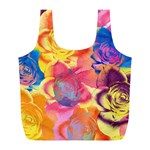 Pop Art Roses Full Print Recycle Bags (L)  Back