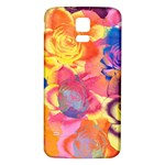 Pop Art Roses Samsung Galaxy S5 Back Case (White) Front